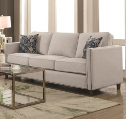Coltrane Transitional Sofa with Nail Head Trim by Coaster