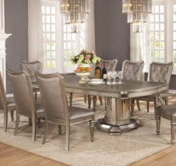 Danette 80″ Dining Table w/ 20″ Leaf by Coaster