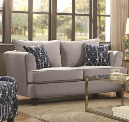 Hallstatt Casual Flare Arm Loveseat with Toss Pillows by Coaster