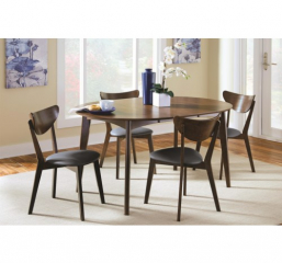 Malone 42″ Dining Table w/ 18″ Removable Extension Leaf by Coaster