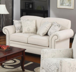 Norah Traditional Loveseat with Antique Inspired Detail by Coaster