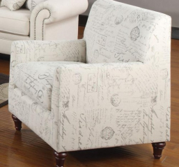 Norah Accent Arm Chair with French Script Pattern by Coaster