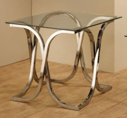 End Table with Tempered Glass Top by Coaster