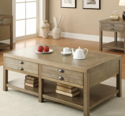 Cottage Coffee Table with Two Drawers by Coaster