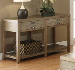 Cottage Sofa Table with Two Drawers by Coaster