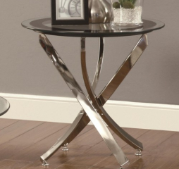 End Table w/ Tempered Glass Top by Coaster
