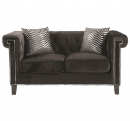 Reventlow Loveseat with Greek Key Nailhead Trim Design by Coaster