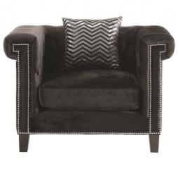 Reventlow Chair with Greek Key Nailhead Trim Design by Coaster