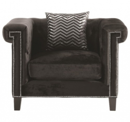 Reventlow Chair with Greek Key Nailhead Trim Design by Coaster