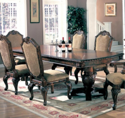 Saint Charles 84″ Dining Table w/ 24″ Leaf by Coaster