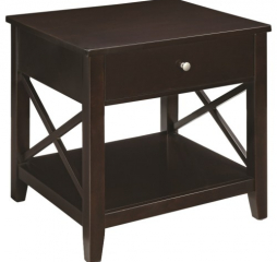 Transitional End Table w/ X Supports by Coaster