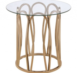 Modern Round End Table w/ Metal Base by Coaster