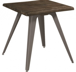 Rustic End Table with Live Edge Top by Coaster