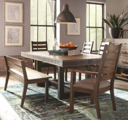Atwater 80″ Dining Table w/ 20″ Leaf by Coaster