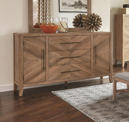 Auburn Dresser with Chevron Inlay Design by Scott Living