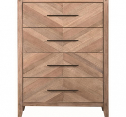 Auburn Four Drawer Chest with Chevron Inlay Design by Scott Living