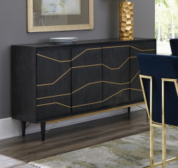 Steele Graphite Four Door Accent Cabinet by Coaster