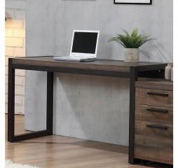 Luke Weathered Oak Writing Desk by Coaster
