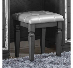 Allura Vanity Stool by Homelegance