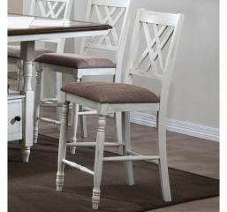 Florence 24″ Double X Back Cushioned Barstool by Winners Only