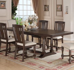 Xcalibur 84″ Leg Table w/ 18″ Butterfly Leaf by Winners Only