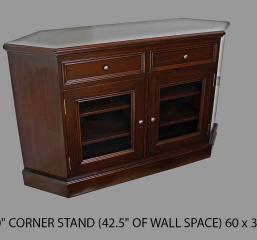 Rainer 60″ Corner TV Stand by North American Wood