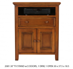 Rainer 30″ TV Stand w/ Two Doors by North American Wood