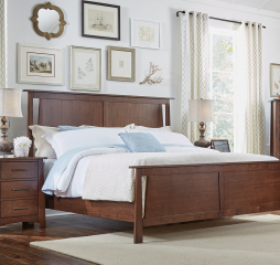 Sodo Cal King Panel Bed by A-America