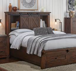 Sun Valley Storage Headboard w/ Storage Footboard by A-America