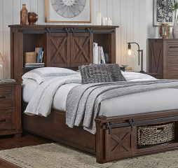 Sun Valley Storage Headboard w/ Rotating Storage by A-America