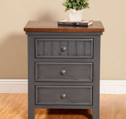 Turner Nightstand w/ Three Drawers by North American Wood