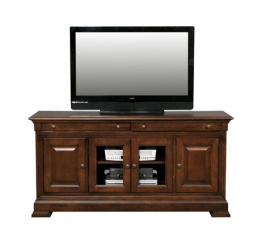 Classic Cherry 64″ Media Base by Winners Only