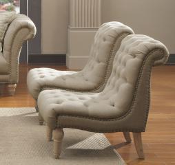 Emerald Hutton Armless Accent Chair