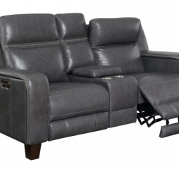 Beckett Power Console Loveseat by Emerald Home Furnishings