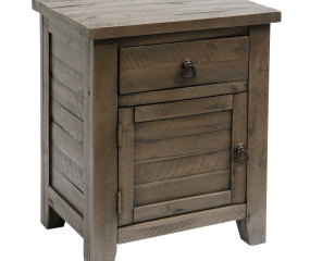 Weathered Side Acacia Table with Drawer by Stylecraft