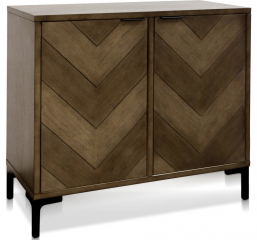 Chevron Two Door Cabinet by Stylecraft