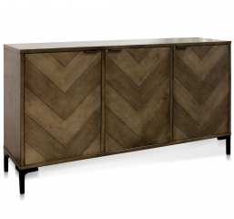 Chevron Three Door Sideboard by Stylecraft