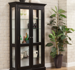 Getty Bookcase w/ Two Glass Doors by North American Wood