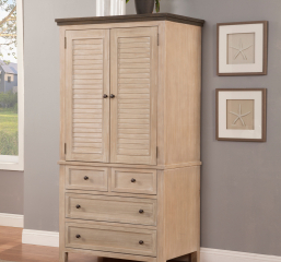 Avila Armoire w/ Four Drawers and Two Doors by North American Wood