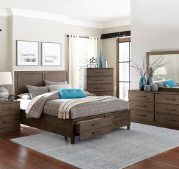 Bracco Bed w/ Footboard Storage by Homelegance
