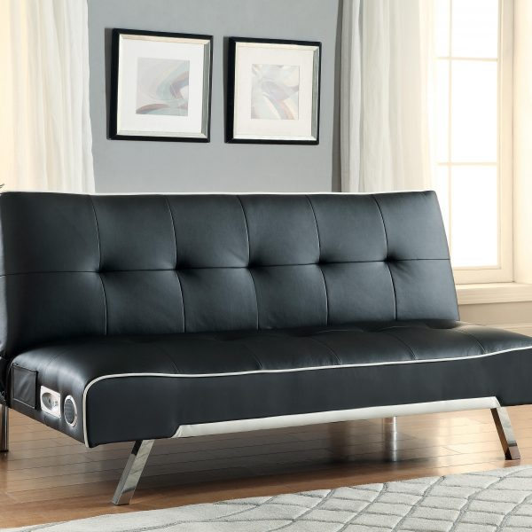 coaster sofa bed 500139 sofa beds and futons   sofa bed with built in bluetooth speakers      rh   broadwayfurniture