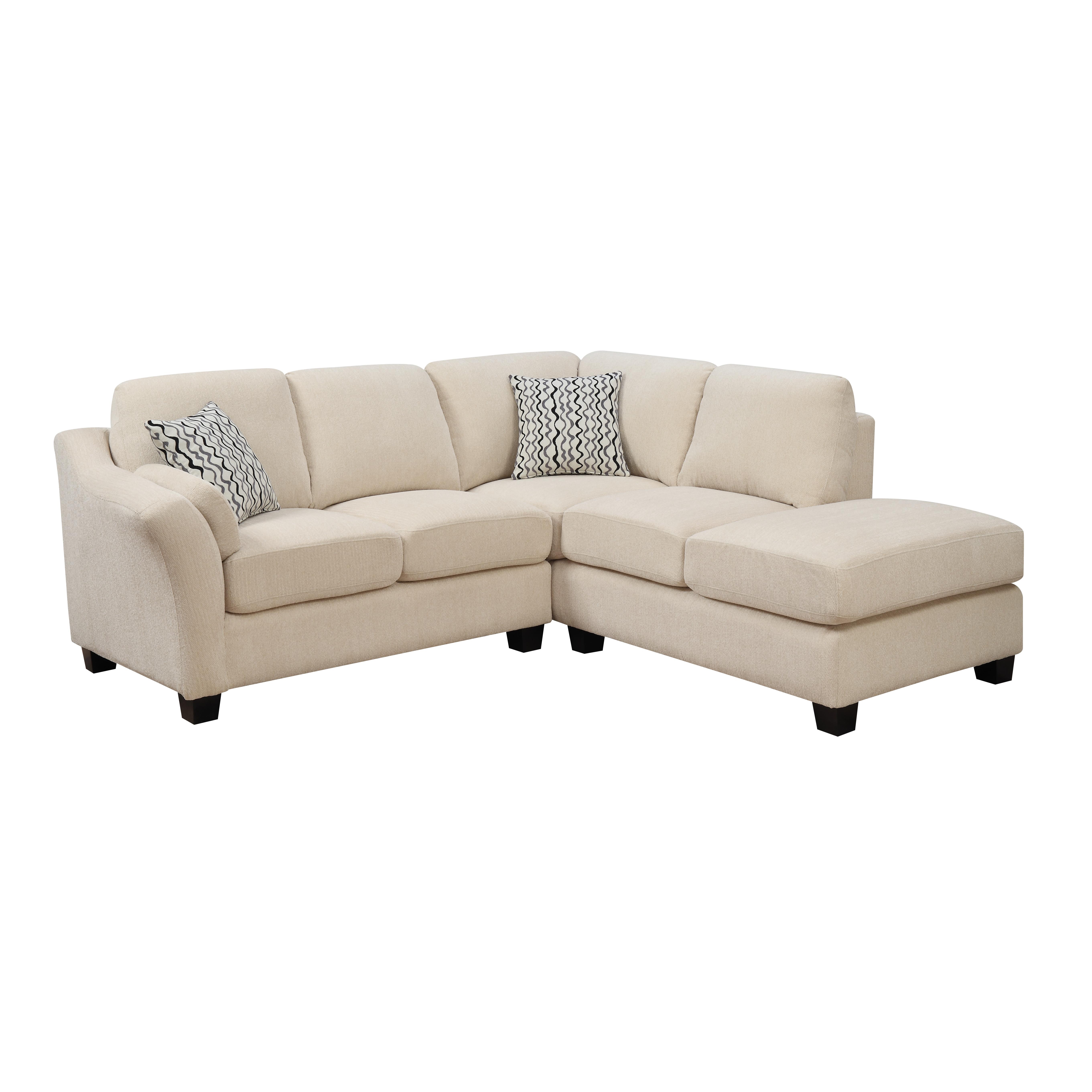 Emerald Home Clayton II Sofa Chaise Sectional