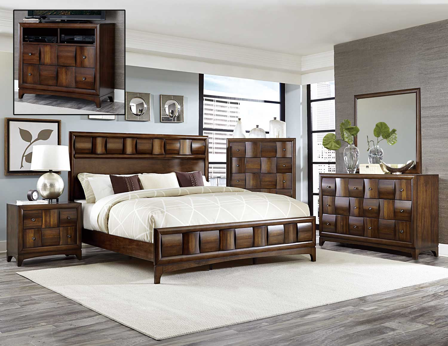 Porter Bed by Homelegance