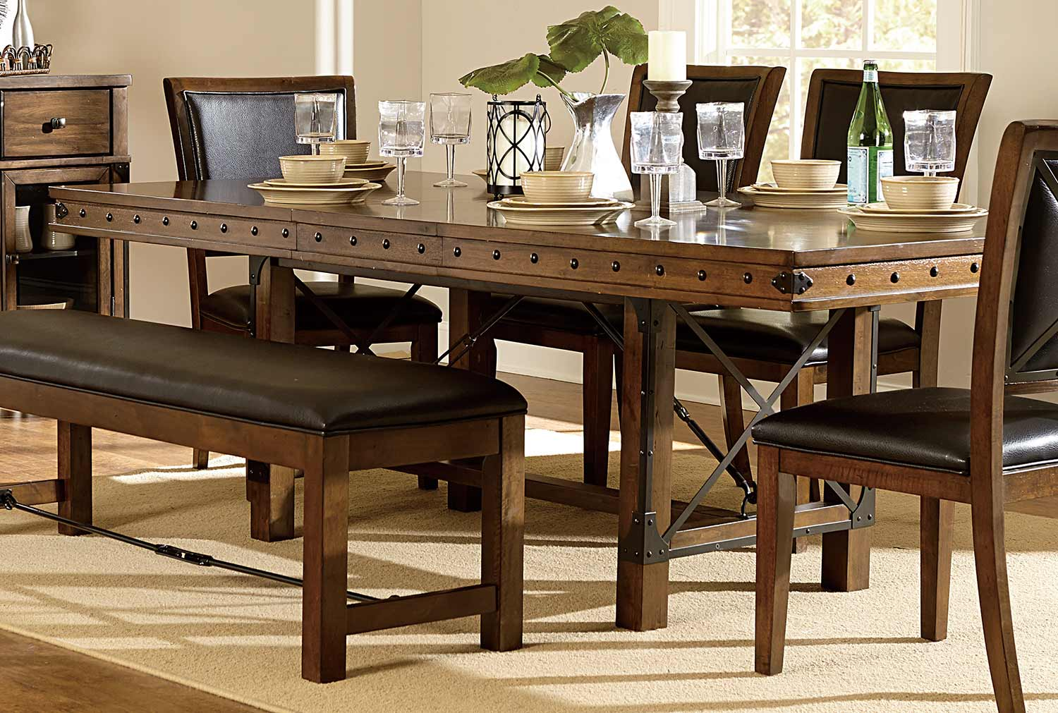 Urbana 72 Quot Dining Table W 18 Quot Leaf By Homelegance