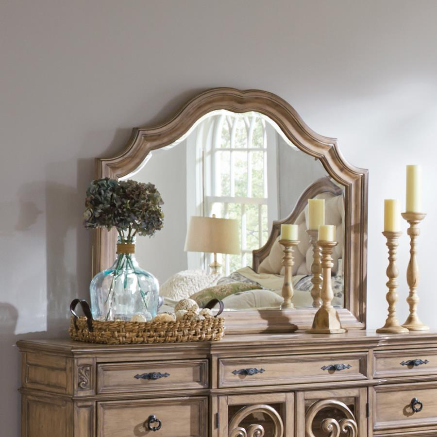 mirror above dresser with candlesticks to illustrate decorate with accessories