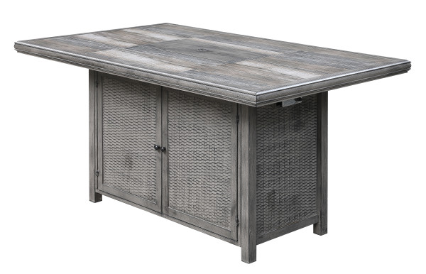 Alderbrook Rectangular Gathering Height Table w/ Fire Pit by Emerald Home Furnishings