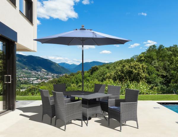 Ridgemonte Outdoor Rectangular Umbrella Dining Table by Emerald Furnishings