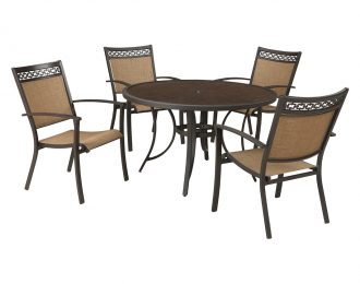Carmadelia 5-Piece Outdoor Round Dining Set by Ashley Furniture