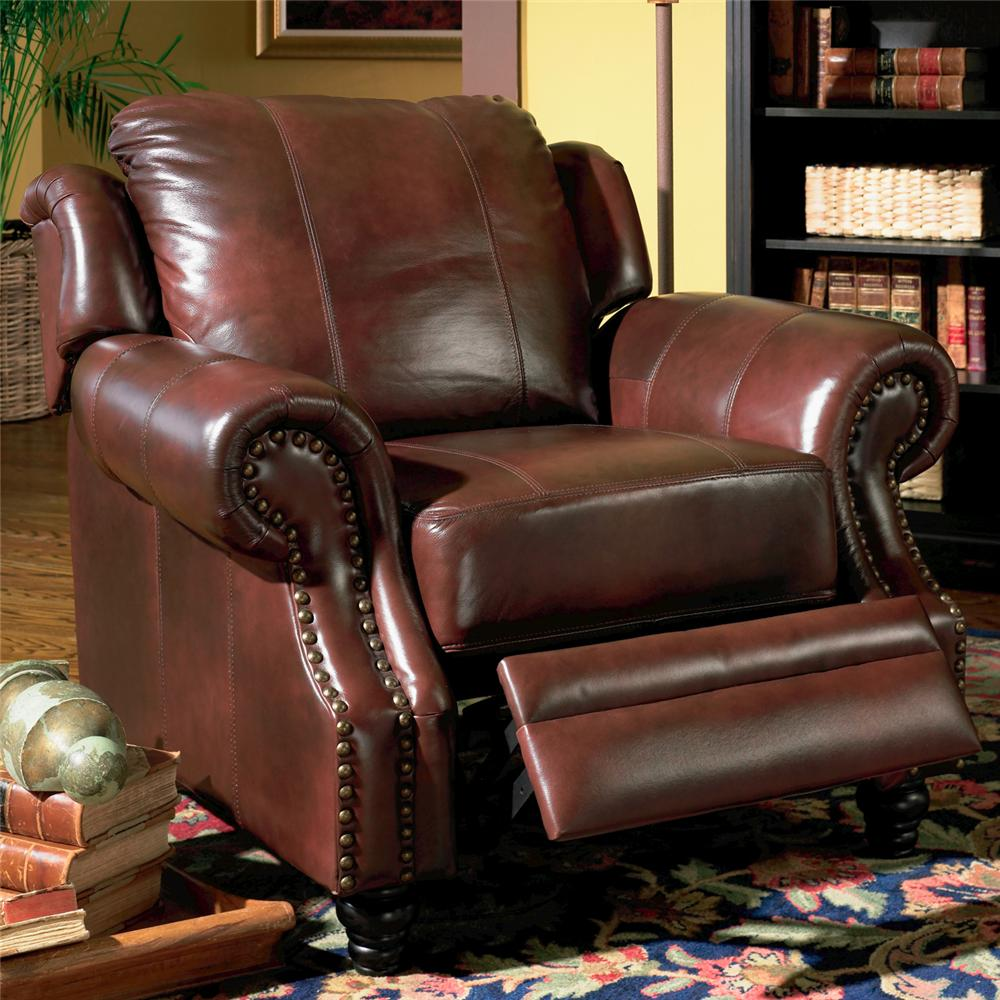 Princeton Rolled Arm Leather Recliner by Coaster