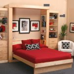 Wall bed in a bedroom